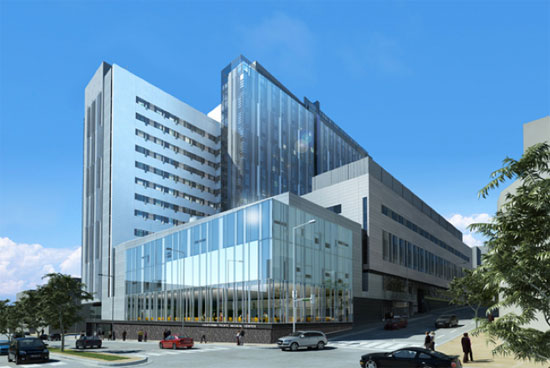 Visual simulation of the proposed Cathedral Hill hospital. Images: CPMC.