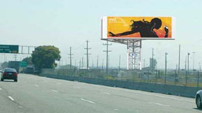 A photo sim of a video billboard. Image: BART