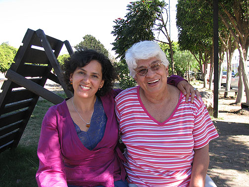 Adriana and Dr. Alicia in the park.