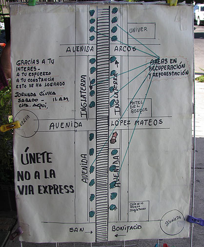 This is posted on the sidewalk in front of Dr. Alicia's shop, indicating the places where neighbors have already begun the transformation.