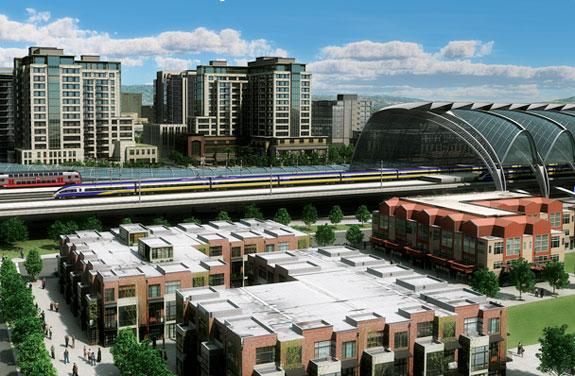 A future San Jose Diridon Station with high-speed rail. Image: CHSRA