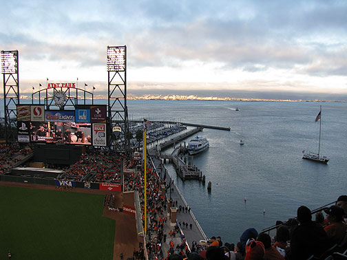 Ferry at Willie Mays Field, September 2010.