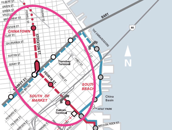Muni Subway Map.Sf Civil Grand Jury Rips Central Subway Calls For A Redesign