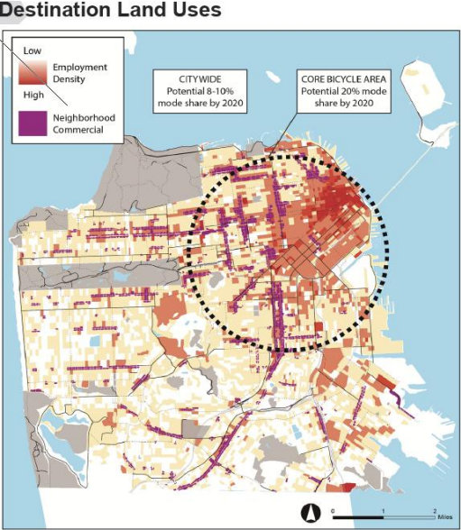 Some BikeFriendly SF Neighborhoods Ahead of the Game Data Shows