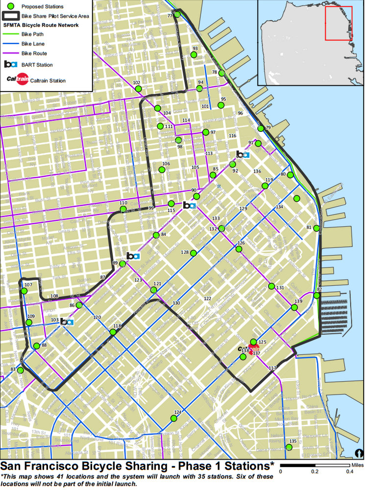Bike San Francisco Map SFMTA Releases Preliminary Map