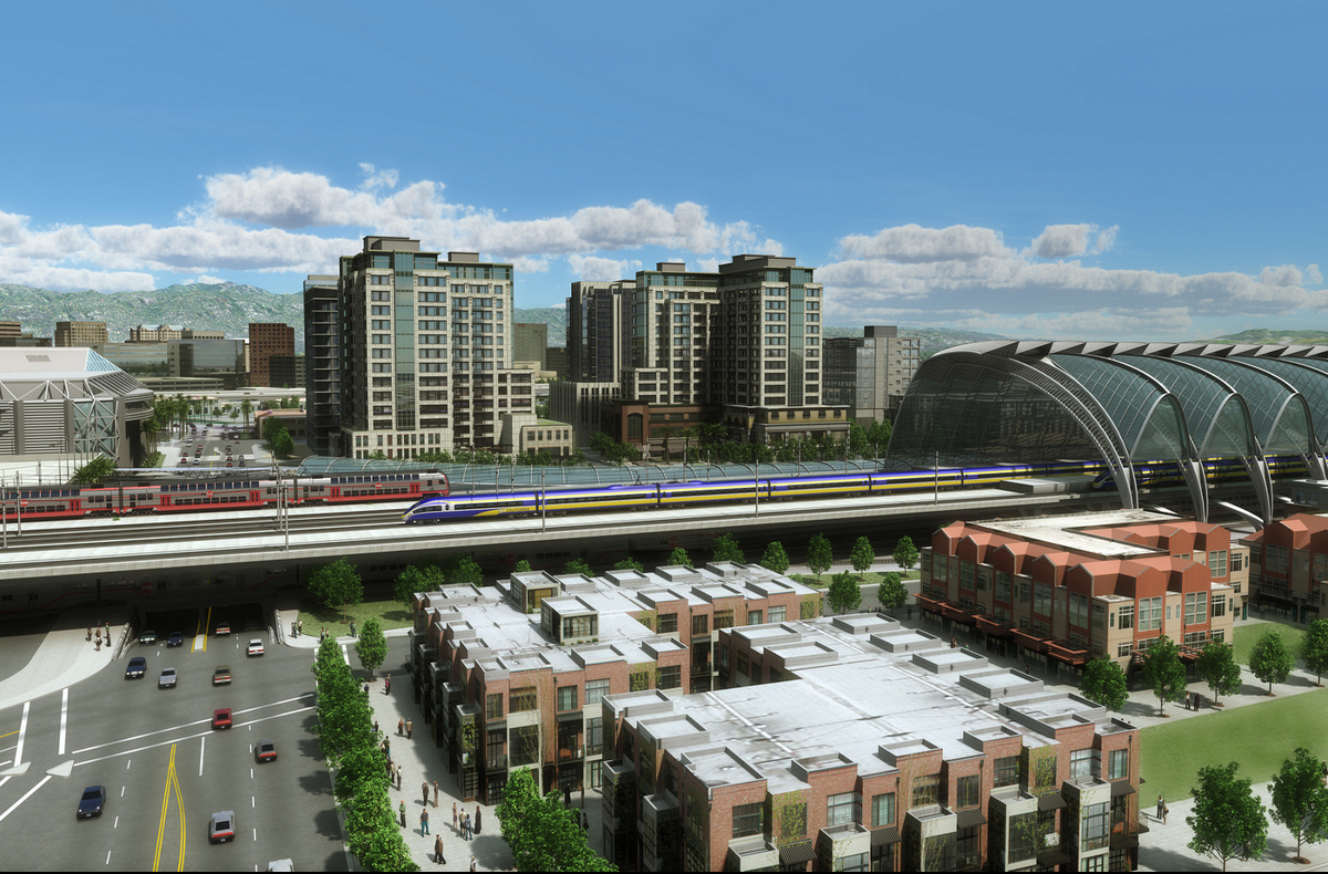 Future Diridon Station Area - Facing Downtown San Jose