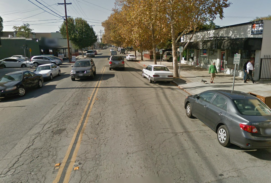 Park Avenue facing West at Sunol Street, San Jose