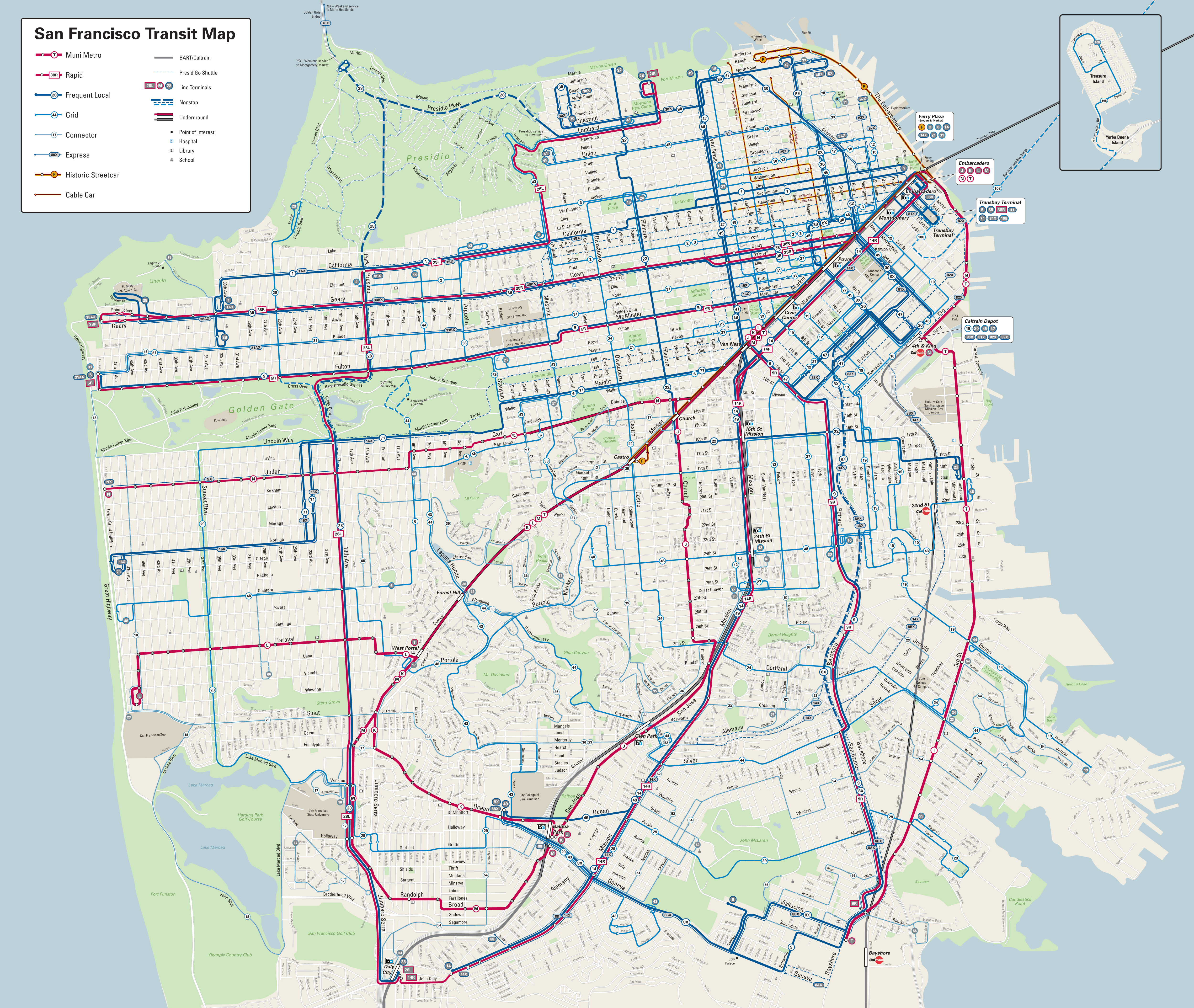 Behold The New Muni Map  Streetsblog San Francisco - Map san francisco bus routes
