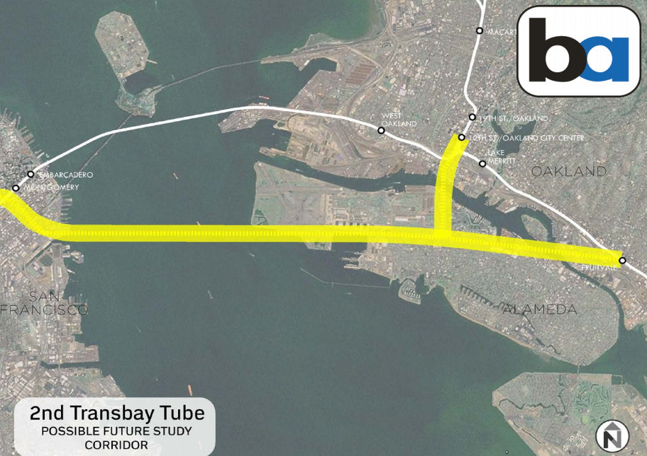 BART Will Study Second Transbay Tube, West Side Extension ...