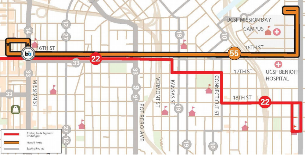 Muni Proposes New Bus Route Curbside Transit Lanes On