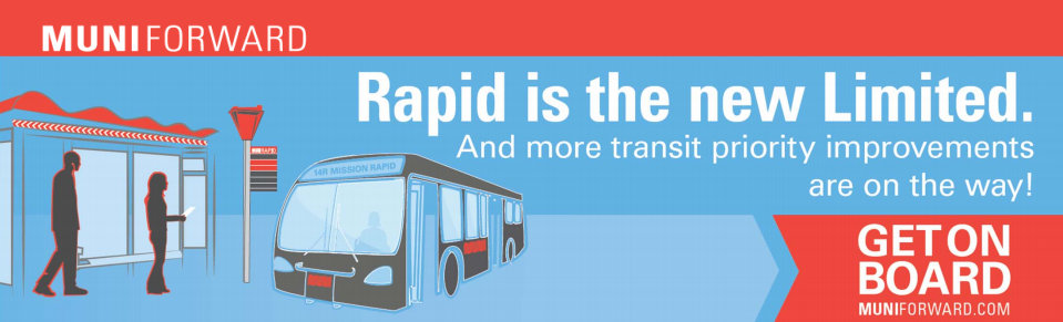 """Muni Forward"" upgrades coming include increased service along with branding changes. Image: SFMTA"