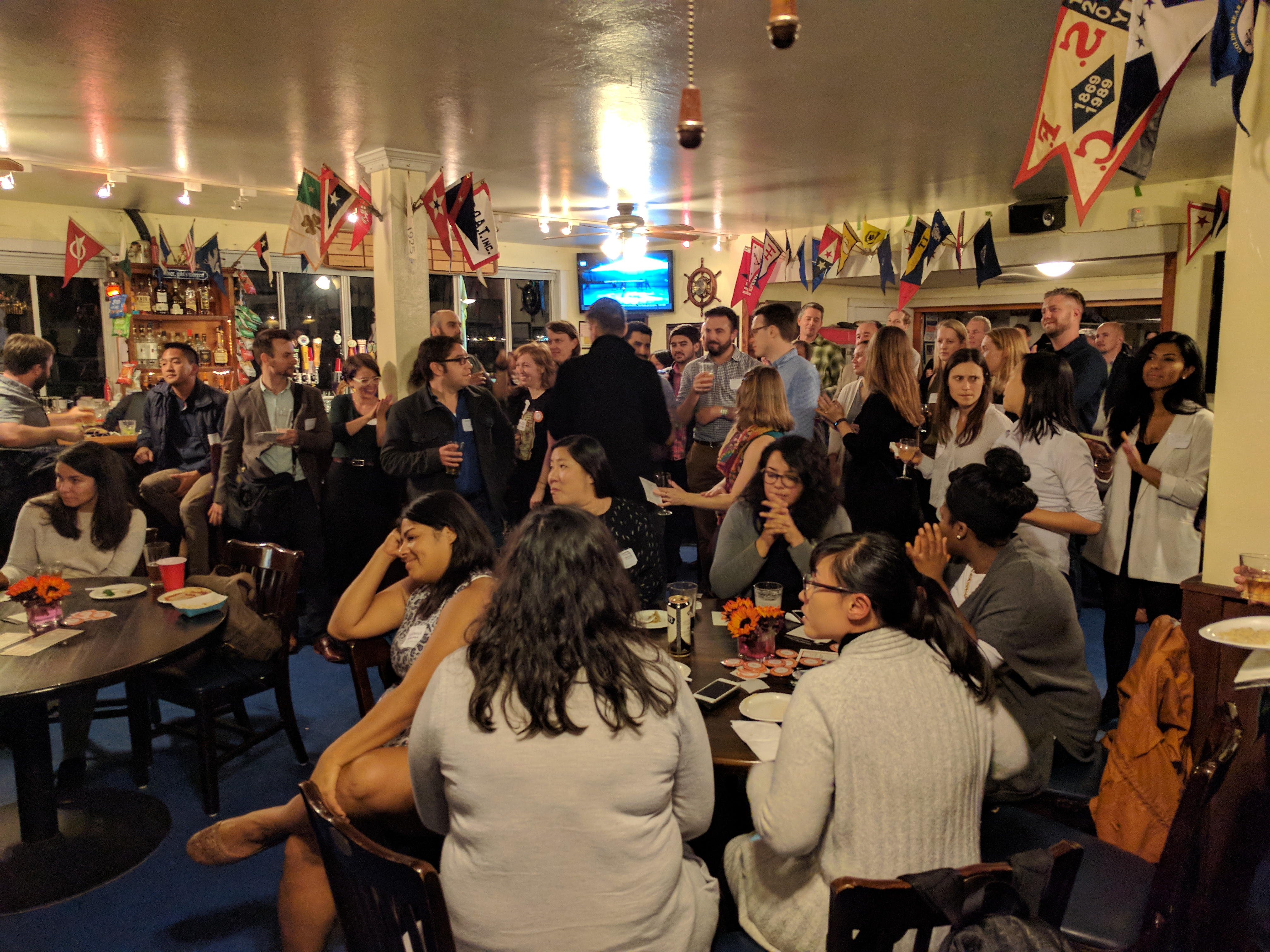 Some 70 transit advocates attended the SF Transit Riders fundraiser.
