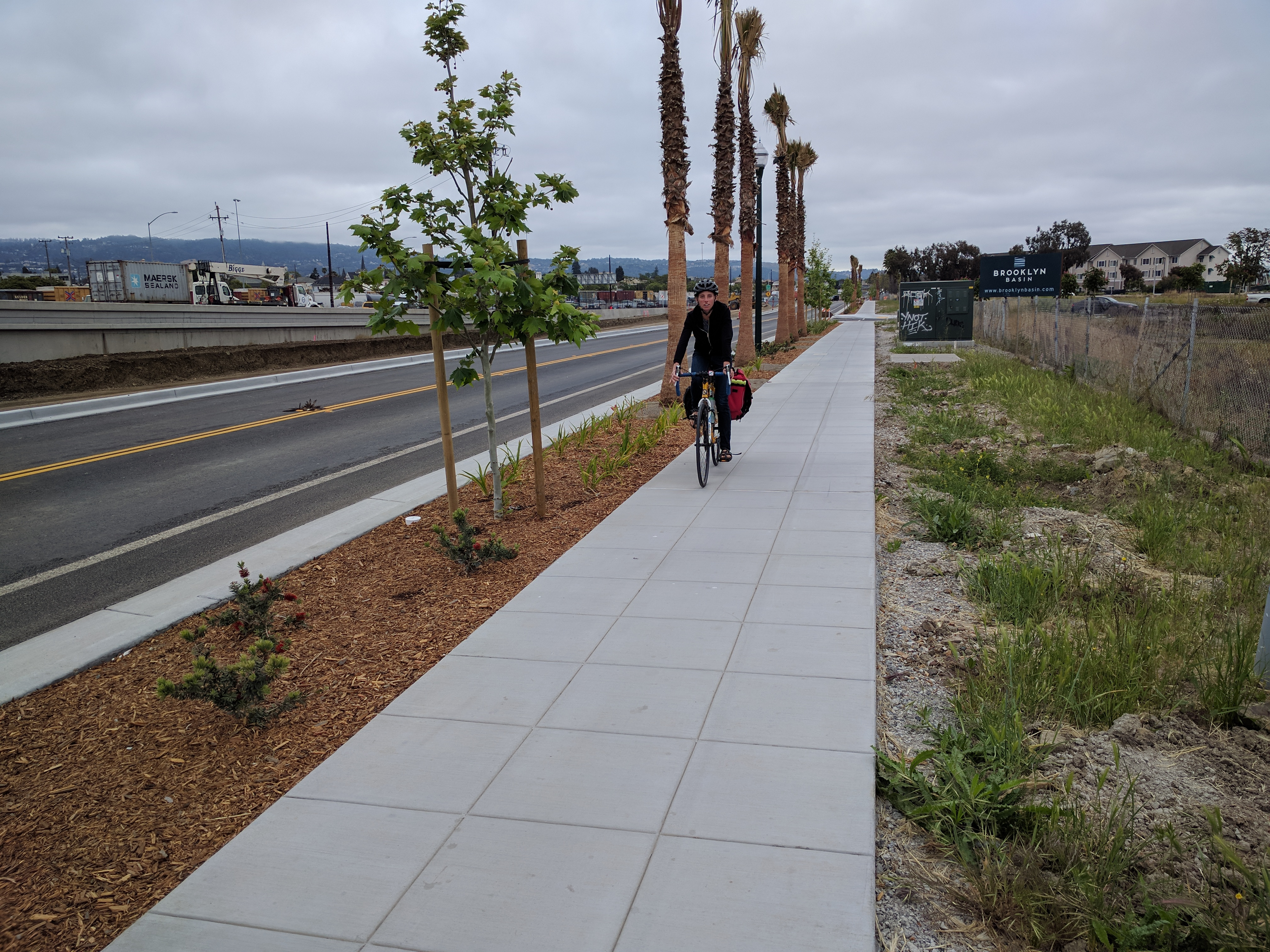 Bike East Bay's Susie Hufstader on the Embarcadero's accidental cycletrack.