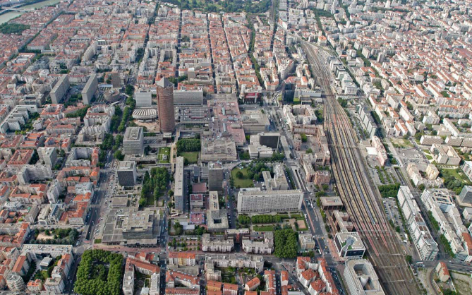 A view of the HSR station in Lyon, France, a city about the size of Fresno. Photo: SPUR